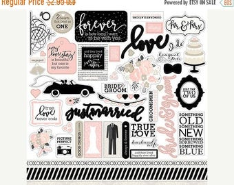 NOW ON SALE Echo Park Wedding Bliss Element Stickers