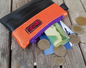 Minimalist Wallet or Coin Purse - Recycled Bike Tube - Unique Gift Under 20