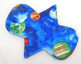 "7.25"" Regular - Planets - Reusable Cloth Menstrual Pad (7MC)"