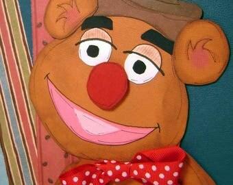 Fozzie Bear Sesame Street Premade Paper Piecing