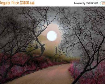 HUGE SUMMER SALE 40% off Photographs, Home Decor, Wall Art....The Silvery Moon ...5x7 archival Fine Art Giclee print