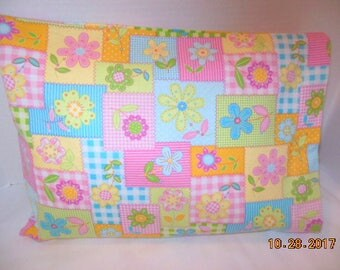 Floral Flannel Travel/Toddler Size Pillowcase