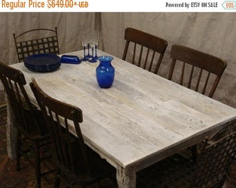 "ON SALE Driftwood Table, Whitewashed (60""L x 36""W x 29""H)"