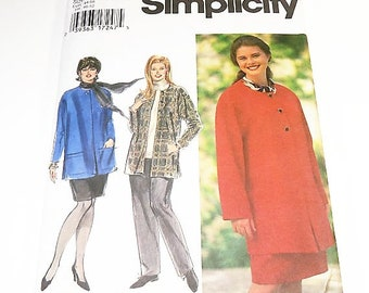 Simplicity Women's Unlined Jacket, Pull On Pants, and Skirt Pattern 9787 Size 18W 20W 22W 24W