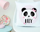 Panda Girls Personalised Cushion