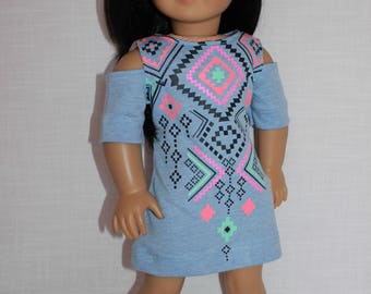 18 inch doll clothes,  peek a boo short sleeve summer dress, Upbeat Petites