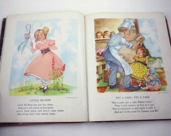 The Brimful Book Vintage 1950s Children's Book by Watty Piper Illustrated by Eulalie Burd and Haumannwith Mother Goose Rhymes