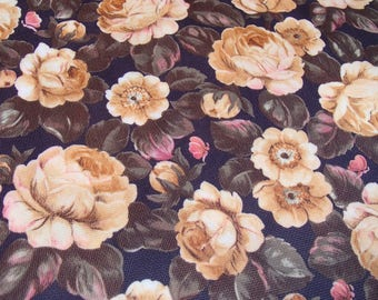 Vintage Fabric / original 60s / rose / skirt making