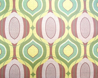 full roll vintage wallpaper' / original European wallpaper / retro / space age