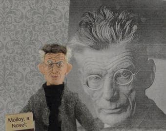 Samuel Beckett Author Irish Author Playwright Mini Sized Doll Caricature Art