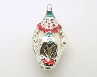 Vintage Christmas Ornament Glass Clown Ornament Christmas Decoration