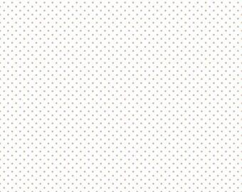 EXTRA20 20% OFF Riley Blake Basic Sparkle Rose Gold Swiss Dot On White