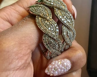 Diamond pave infiniti hoope earrings large diamond hoop earrings safety clasp