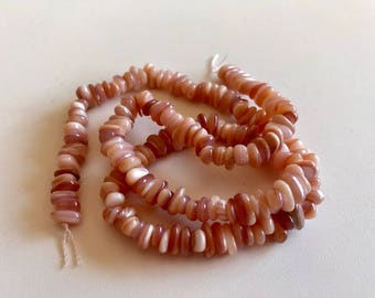 Mother of Pearl Beads-Pink Shell Bead Chips