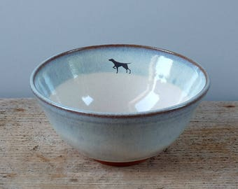 Black Dog Cereal Bowl