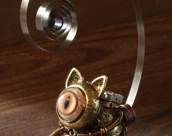 Steampunk Cat Sculpture