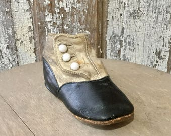 Single Old High Button Baby Shoe