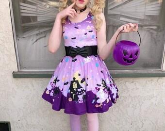 Candy Cemetery Dress 2.0, Halloween Dress, Candy Dress, Candy Corn Dress