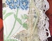 Juicy THICK Edwardian NEEDLE KEEP Sewing Kit Needle Book, Needle case, Vintage laces