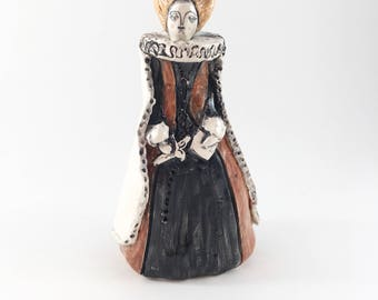 Mary Queen of Scots ceramic miniature figure perfume bottle