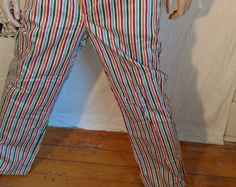 Striped  jeans 36X 31 Herman's Eco Repurposed USA