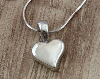 Sterling Silver Heart Necklace, Heart Pendant, Silver Heart Necklace, Sterling Silver Heart Pendant, Silver Necklace, Lost Wax Casting