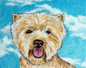 20% off storewide West Highland White Terrier with the Sky Dog Art Tile