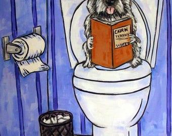 20% off Cairn Terrier, Bathroom art, Dog PRINT,   modern, dog, dog art, cairn terrier print