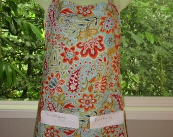 Aprons for Women - Womens Aprons - Brilliant Floral Paisley Pattern