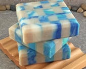 Beaches Mosaic Soap - Handcrafted Coconut Milk Cold Process Bar Soap