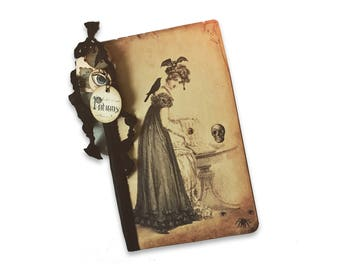 Halloween Witch Journal, Jane Austen, Pride and Prejudice and Potions, Wicca Jane Austen, Travel Journal, Jane Austen Gifts, Pemberley Gifts