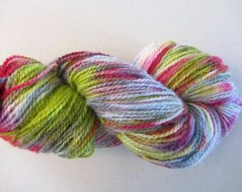 Peace & Love.  Handpainted Wool Yarn 2 Ply DK weight