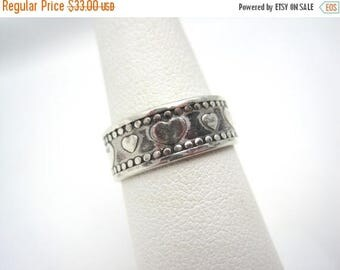 OnSale Vintage Sterling Silver Sweetheart Ring - Silver Heart Band