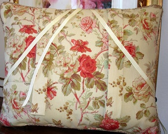 Shabby Chic Ole Rose Reading Pillow to cradle your Book