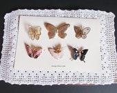 Vintage Schmetterling Pins, Broschen, Boho, Hippie, Modeschmuck / Schmuck