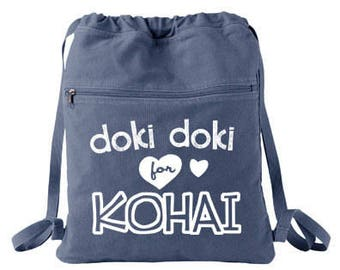 Senpai Backpack Doki Doki for Kohai anime bag manga meme japanese bag kawaii backpack anime convention tote shopping soft backpack cute