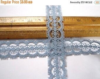 ON SALE- 10 yards vintage periwinkle blue lace trim