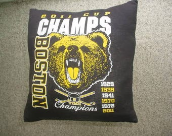 NHL Hockey Boston Bruins pillow 16 x 16