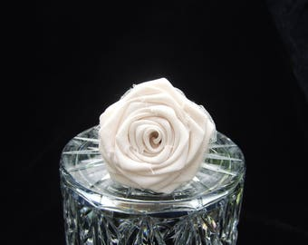 Fabric Rolled Roses Tulle You Pick the Color Weddings Events Natural Stem Branch Wood