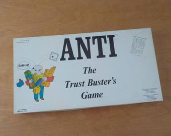 Vintage Anti The Trust Busters Game • 1973 Independent Game • Vintage Trust Busting Board Game