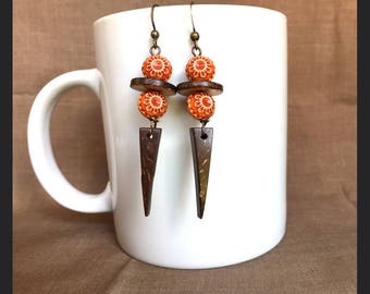 Fiesta II Earrings...Extreme Decaf Earrings...FREE U.S. SHIPPING