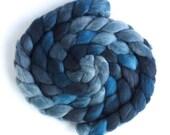 Tour de Fleece, Falkland Wool Roving, Hand Dyed Spinning and Felting Fiber, Race Splash