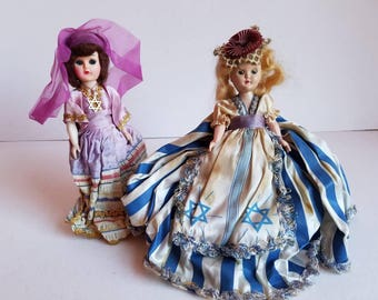 Vintage Jewish Souvenir Dolls * pair