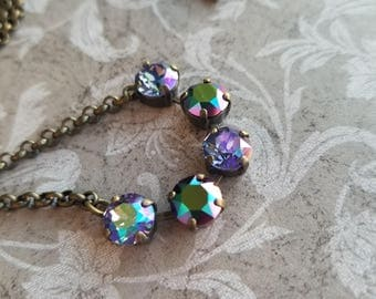 Crystal Necklace - simple, featuring Swarovski Crystals. Imagine set.