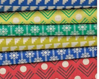 Sale! 6 Fat Quarters Framework by Ellen Baker for Kokka Fabrics - see all images