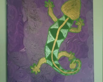 Green and Gold Gecko