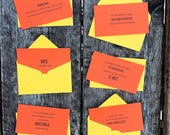 Passive Aggressive Parking Violations     Set of 6 with mini envelopes