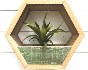 Geometric Planter, Wood Planter, Succulent Planter, Hanging Planter, Geometric Shelf, Reclaimed Wood Planter