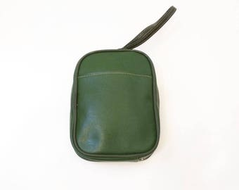 Vintage Green Toiletries Cosmetic Travel Bag