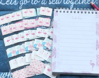 Tabs Page Markers Flamingo 12 for a dollar